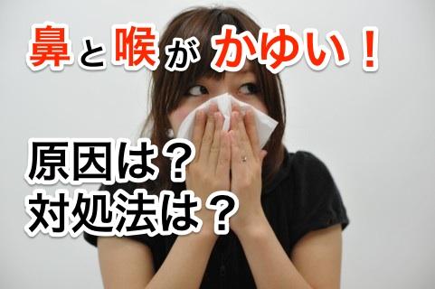鼻と喉の間が「かゆい」原因と対処法を紹介する