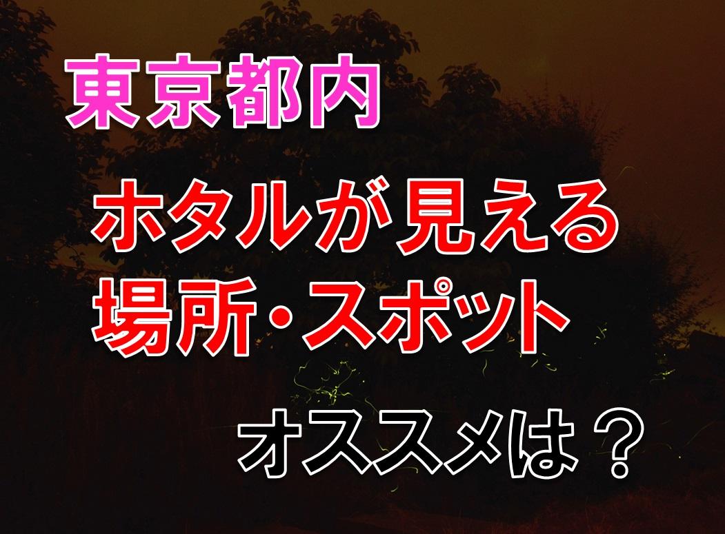 東京都内 関東 ホタルが見える場所・スポット・時期 オススメは?