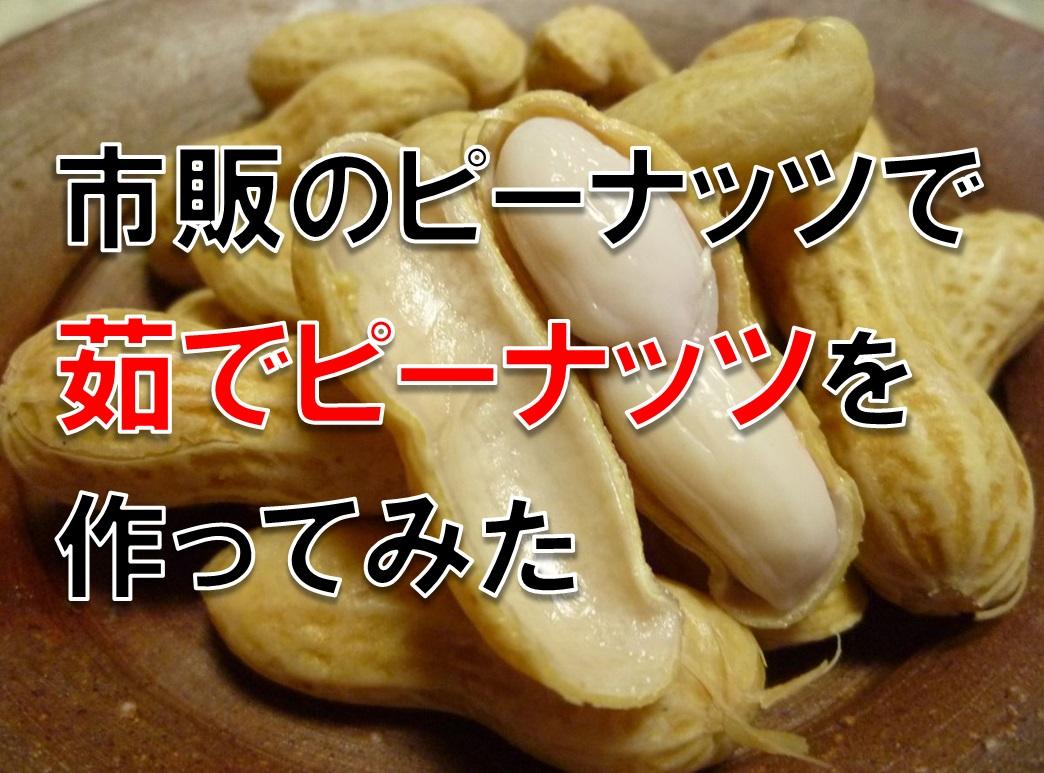 市販のピーナッツで茹でピーナッツ(落花生)を作ってみた